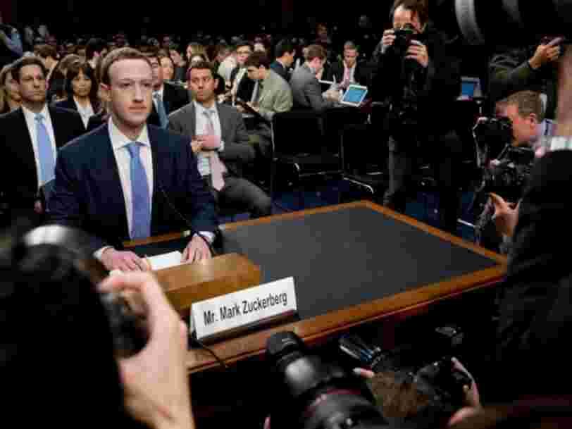 Mark Zuckerberg a subi 5 heures d'interrogatoire soutenu au Congrès des Etats-Unis — voici ce que vous devez retenir
