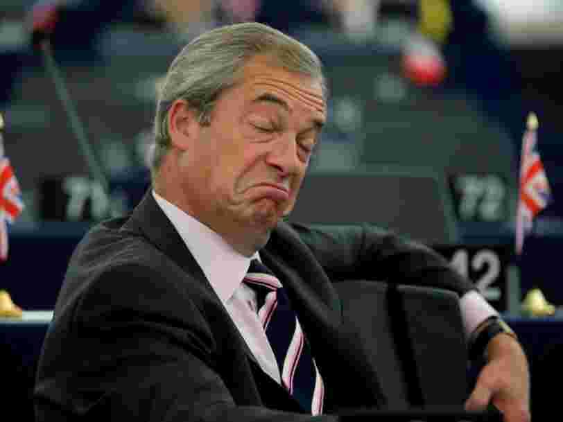 Le parti britannique Ukip a utilisé des fonds européens pendant sa campagne du Brexit — il doit rembourser 421.000 € à l'Union européenne