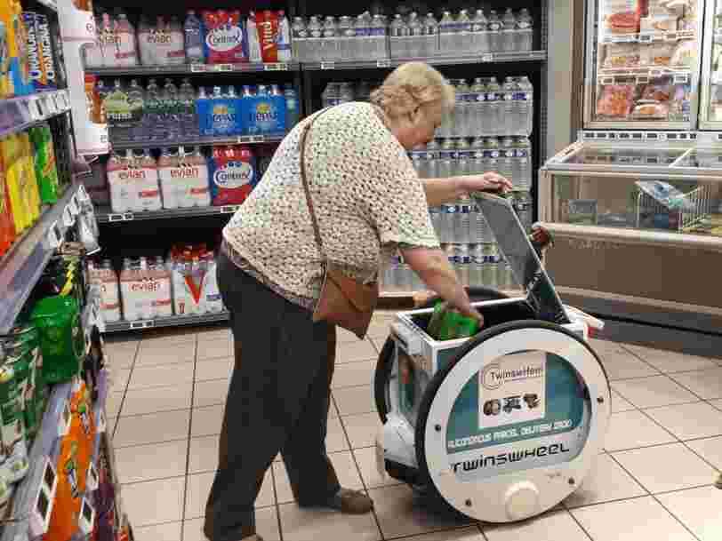 Franprix teste un droïde pour que vous n'ayez plus à porter vos courses