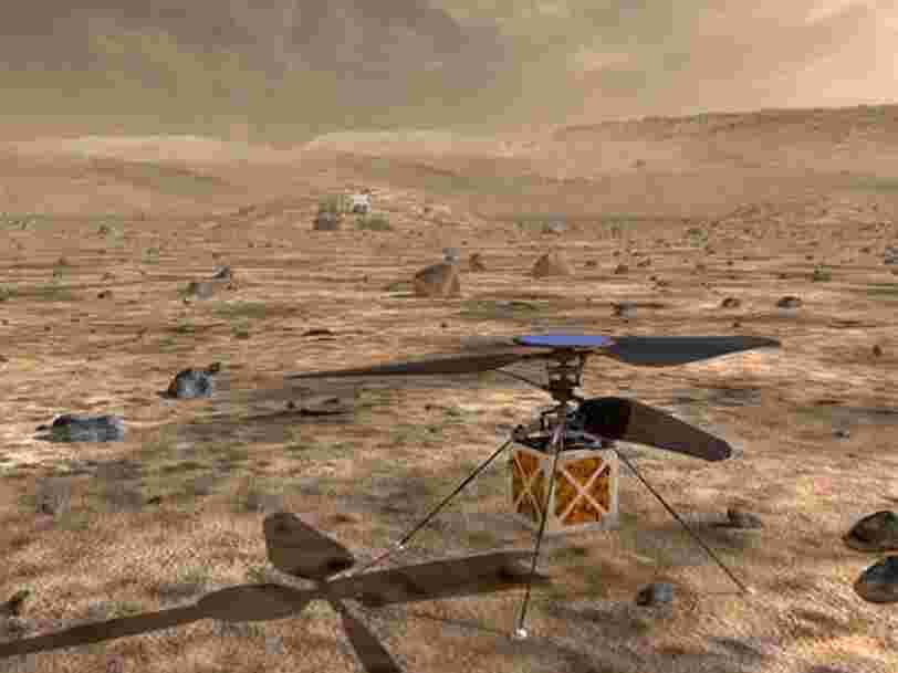 La NASA va envoyer pour la première fois un mini hélicoptère sur Mars en 2020 — voici ce que l'on sait de cet engin volant de 1,8kg