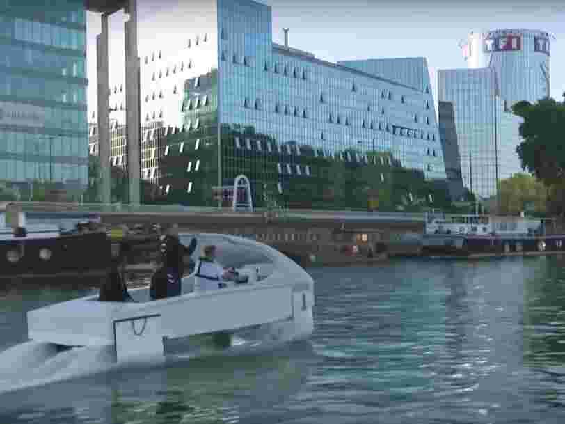 Paris testera des taxis sur la Seine en septembre mais on ne verra pas l'ampleur de cette technologie — voici pourquoi