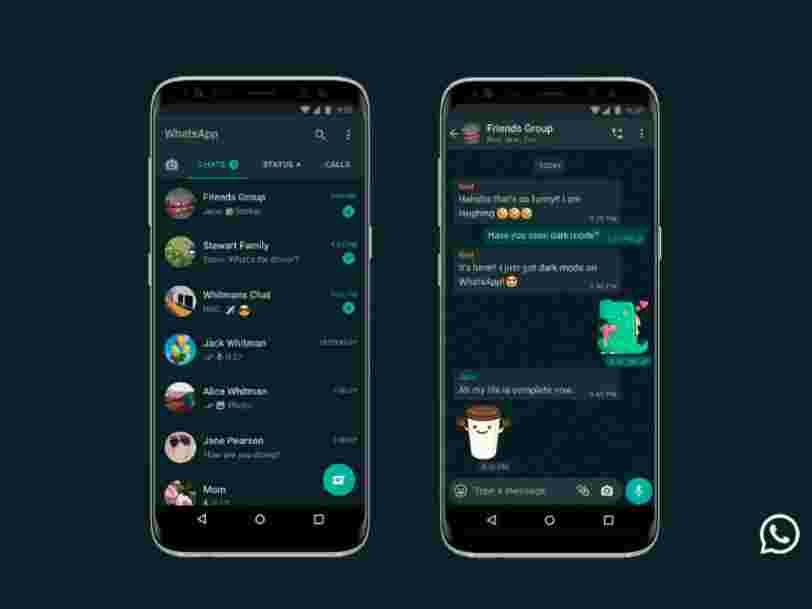 WhatsApp propose enfin un mode sombre