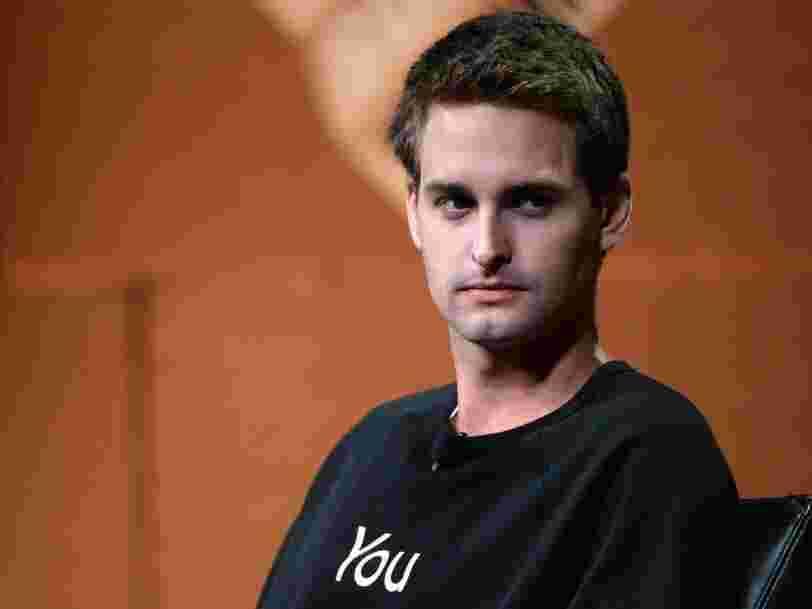 Evan Spiegel à propos des imitations de Facebook: 'Ce n'est pas parce que Yahoo a une barre de recherche que c'est Google'