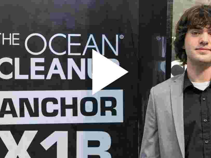 VIDEO: Voici le projet à 30M$ de cet Américain de 22 ans pour nettoyer les océans