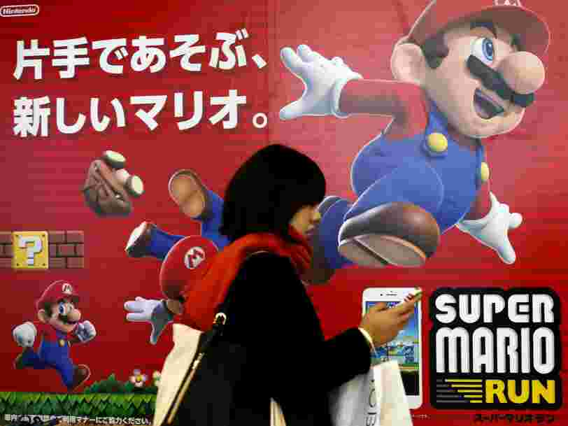 L'action de Nintendo bondit après une information selon laquelle il sortirait 3 nouveaux jeux mobiles par an
