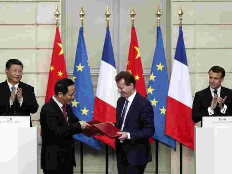 Airbus, EDF, BNP Paribas... Les grands gagnants de la venue de Xi Jinping en France