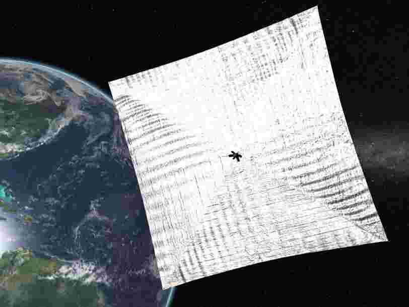 La voile solaire, ça marche ! Il est possible de se déplacer dans l'espace sans carburant