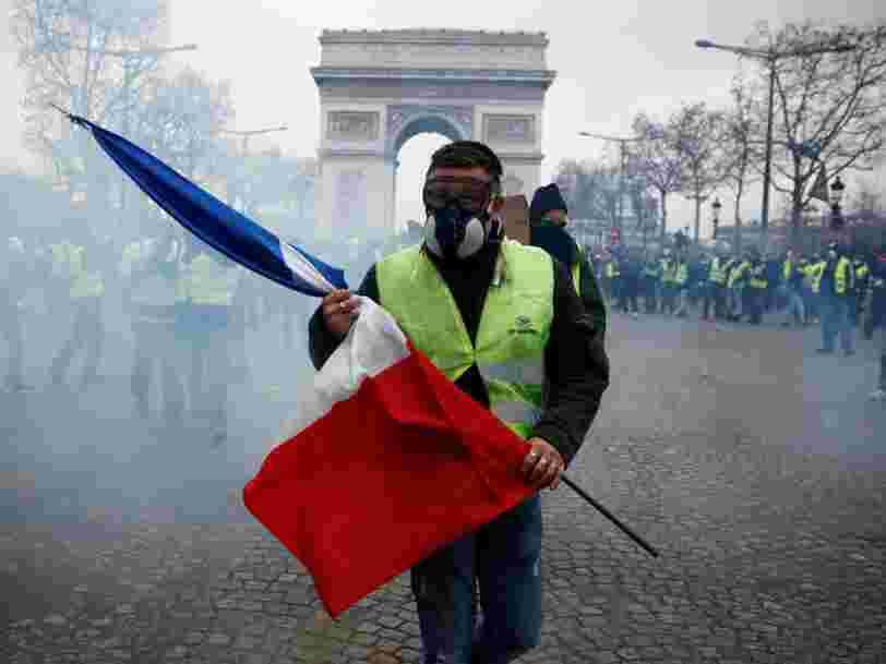 125.000 'Gilets jaunes' ont manifesté ce samedi en France — et 1400 ont été interpellés