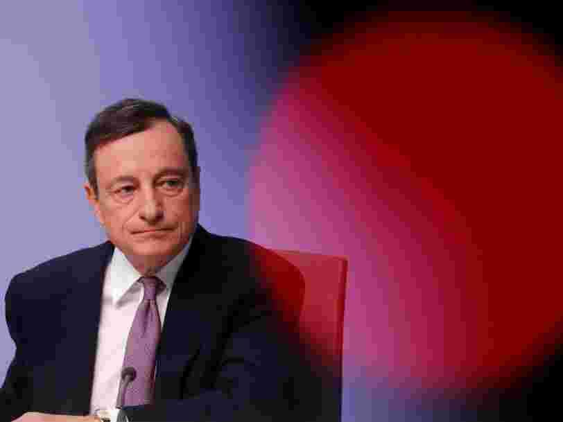L'euro franchit sa 'juste valeur' pour la première fois depuis 3 ans après une déclaration de Mario Draghi