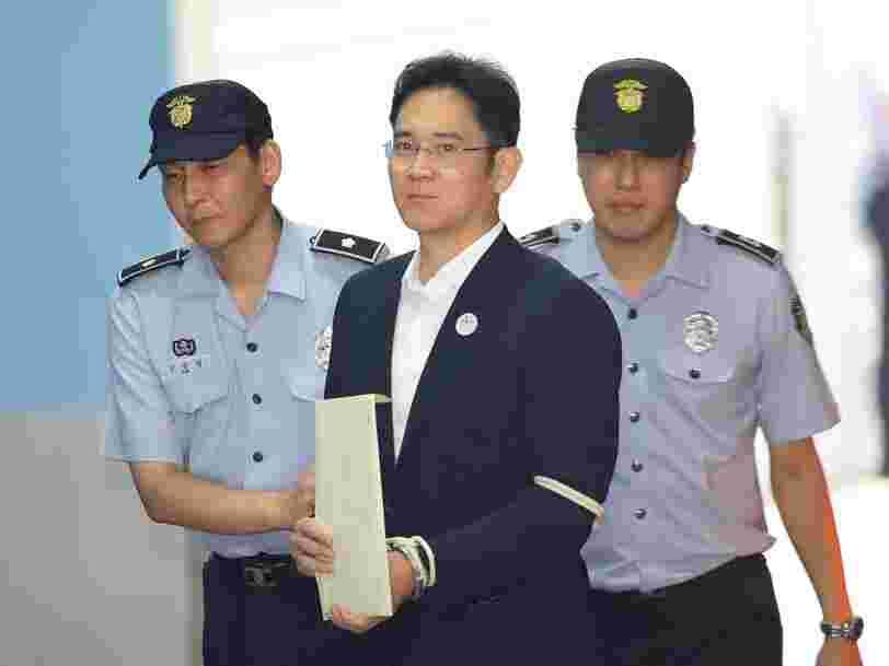 L'héritier de l'empire Samsung a été condamné à 5 ans de prison pour corruption