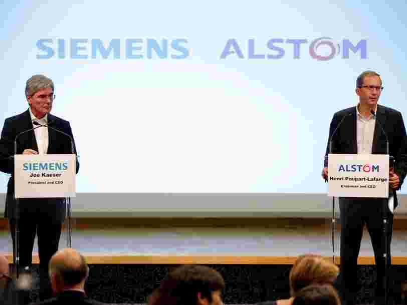 Le constructeur de trains à grande vitesse Alstom déraille en Bourse alors que sa fusion avec Siemens pourrait être compromise