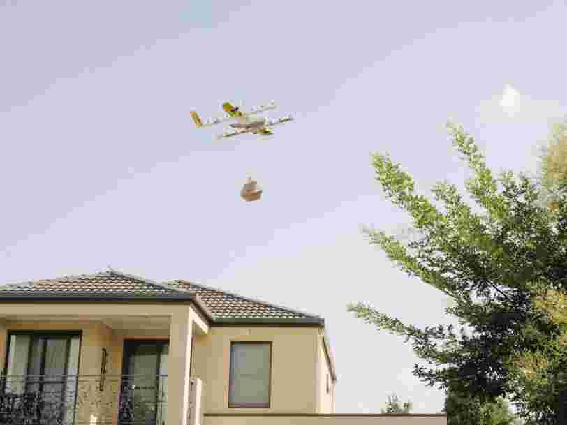 Google devance Amazon en lançant son premier service de livraison par drone aux particuliers