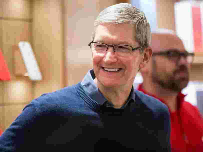 Voici un aperçu de la routine quotidienne de Tim Cook, le DG d'Apple qui a gagné 102M$ en 2017