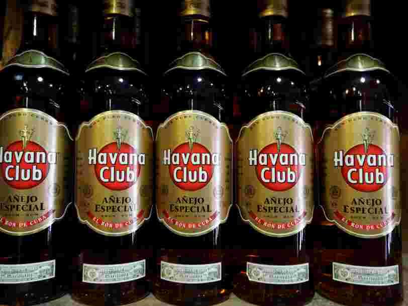 Les touristes américains peuvent ramener plus de rhum cubain chez eux et Pernod Ricard va en profiter