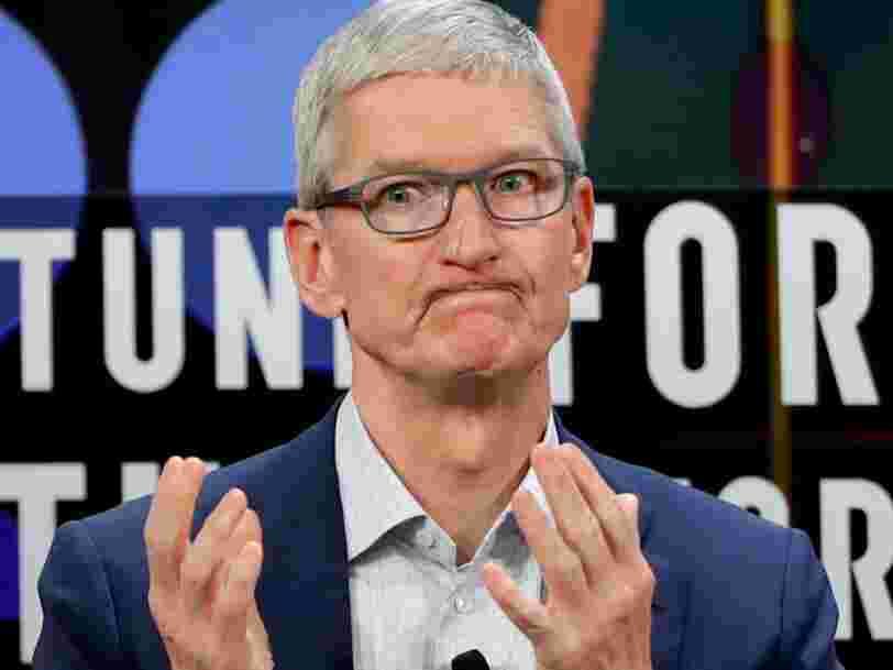 Goldman Sachs dégrade l'action d'Apple pour la 2e fois dans le mois et avertit qu'Apple pourrait avoir 'mal calculé' le prix de son iPhone XR