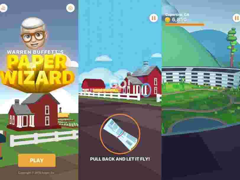 Apple a lancé un jeu sur iPhone dans lequel Warren Buffet distribue des journaux