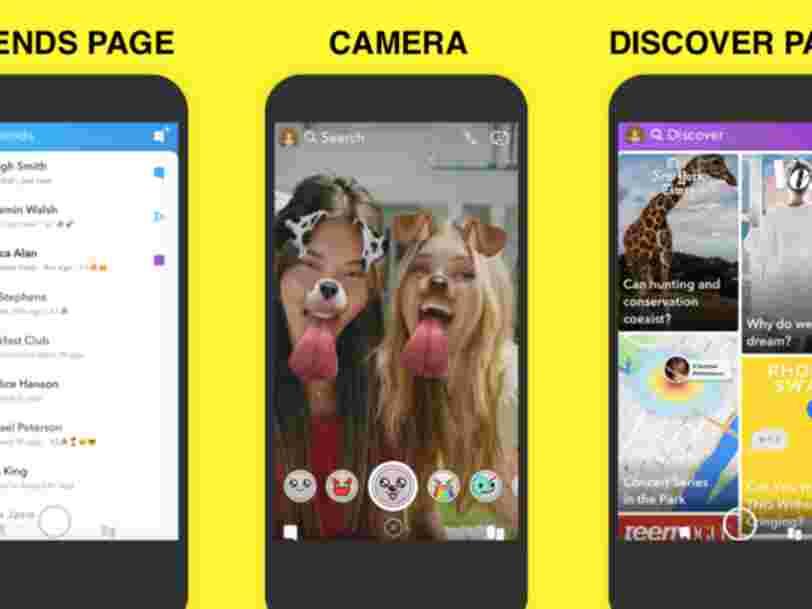 Snapchat fait un peu marche arrière et revient sur la nouveauté phare de son redesign si impopulaire