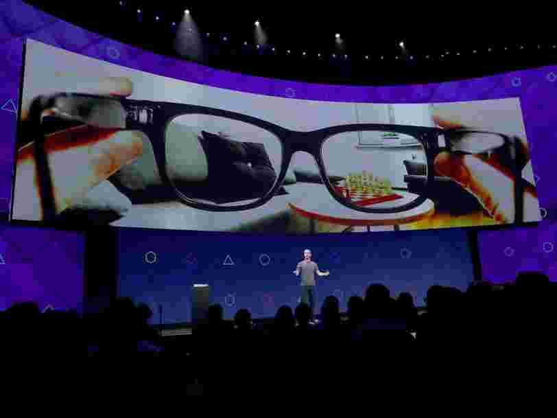 Facebook met au point des lunettes de réalité augmentée futuristes — voici de nouveaux détails sur ce projet