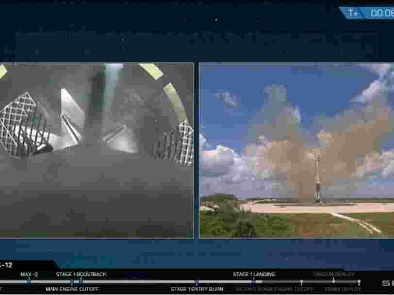 SpaceX a encore réussi à récupérer une fusée après avoir livré des fournitures à l'ISS — regardez les images de cet atterrissage parfait