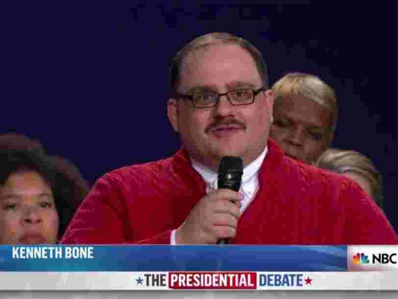 Un des électeurs invités au débat présidentiel américain est devenu une star instantanée du web