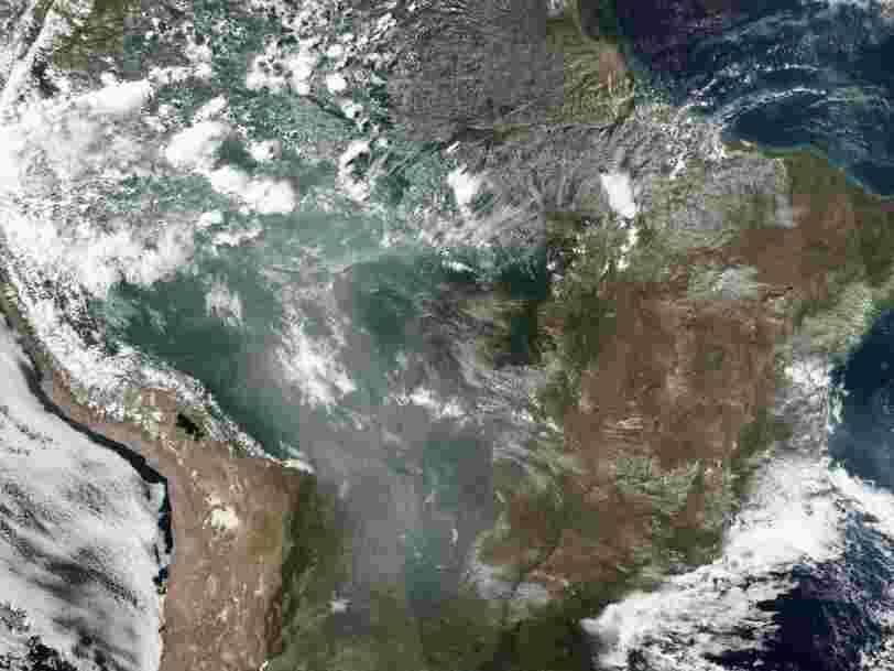 Les incendies en Amazonie sont si importants qu'on voit la fumée depuis l'espace