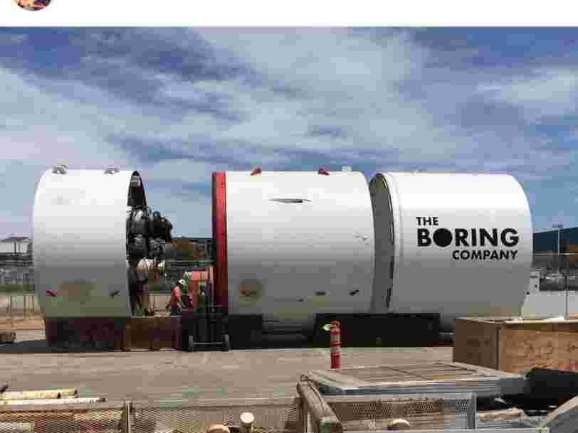 Elon Musk a officiellement commencé à creuser un tunnel sous Los Angeles