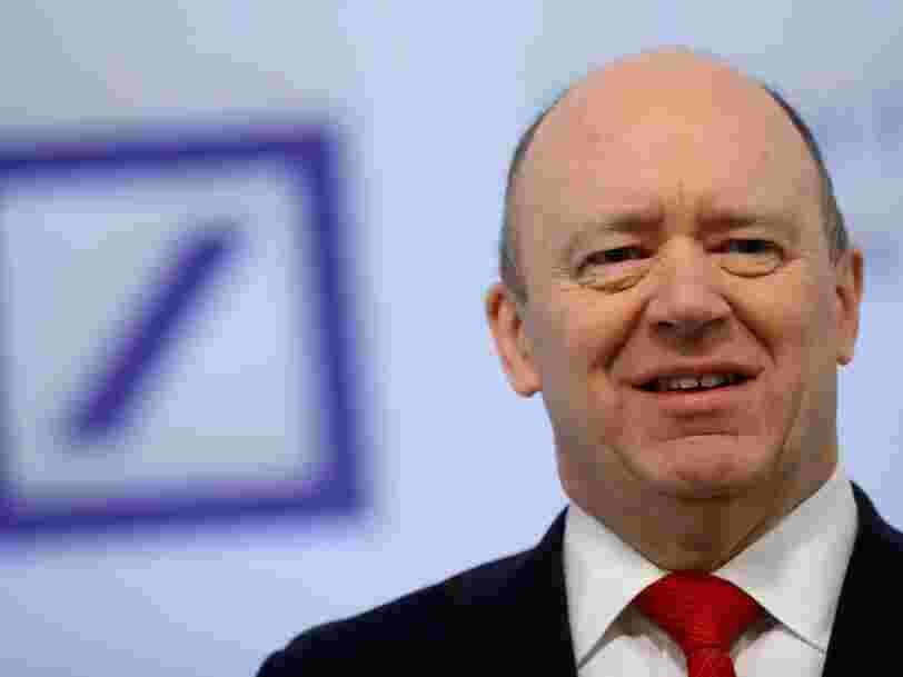 Deutsche Bank accuse une perte de 1,9Md€ au 4e trimestre à cause de litiges du passé