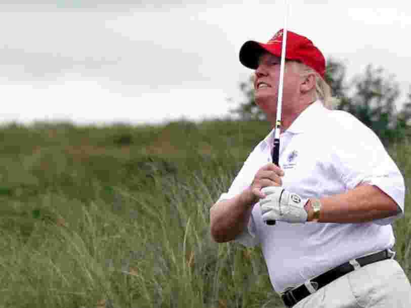 Donald Trump encore accusé de tricher au golf pour gagner un championnat