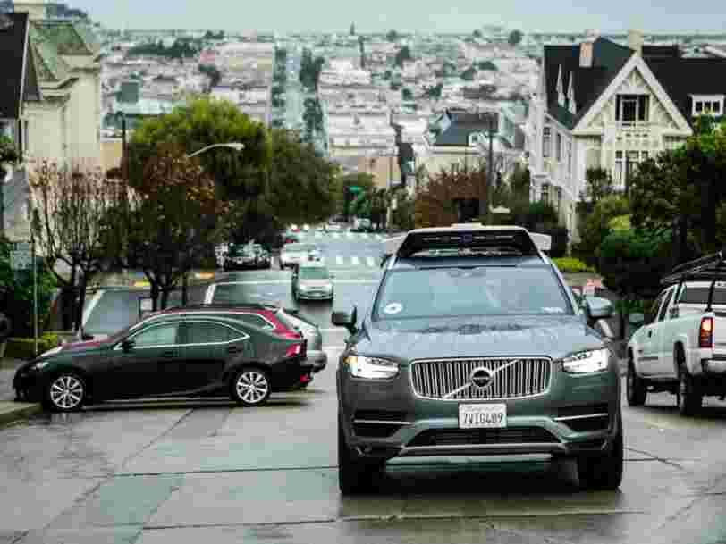 Uber lance ses voitures autonomes à San Francisco