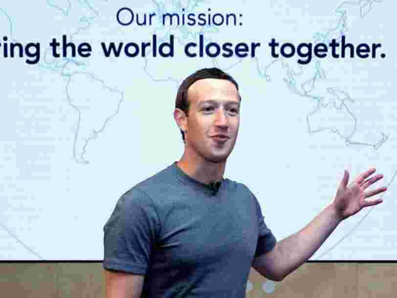 Mark Zuckerberg doit quitter son poste de président de Facebook, d'après un actionnaire qui possède 1Md$ de parts dans la société