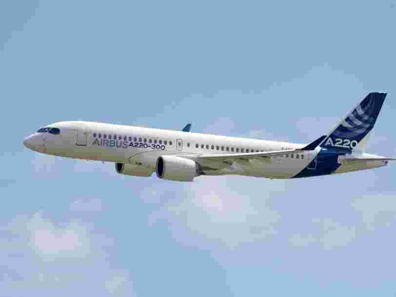 Airbus survole le CAC 40 après avoir annoncé des commandes 'à 2 chiffres' pour le CSeries en 2018