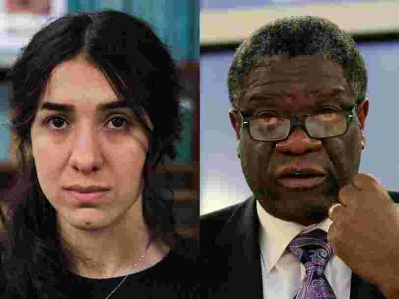 Le prix Nobel de la paix distingue le médecin congolais Denis Mukwege et la militante yézidie Nadia Mourad pour leur lutte contre les violences sexuelles