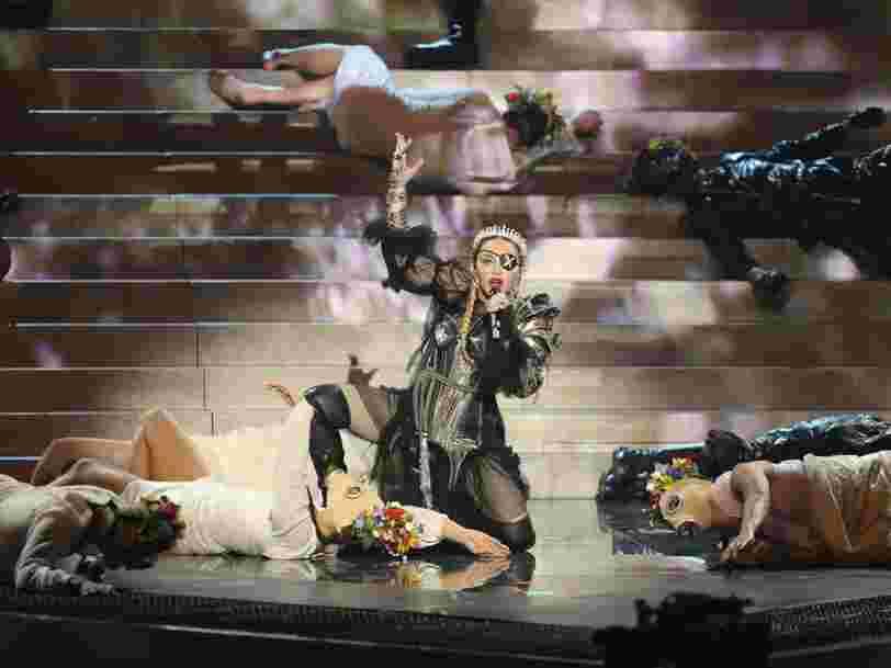 Madonna met sur Youtube sa prestation à l'Eurovision, mais fait supprimer les fausses notes