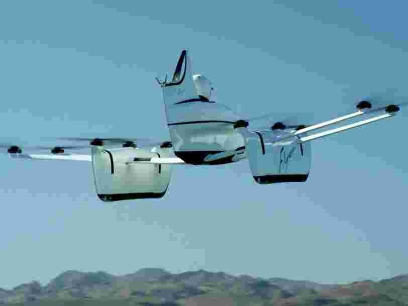 La voiture volante financée par le cofondateur de Google vient de recevoir une importante mise à jour, et les gens peuvent la piloter avec moins d'une heure de formation