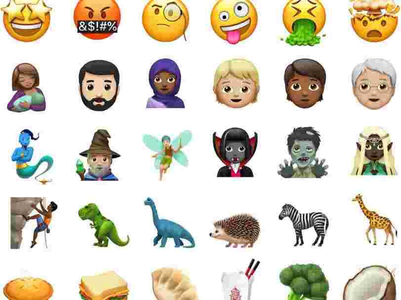 70 nouveaux emoji viennent d'arriver sur iPhone —on les a classés