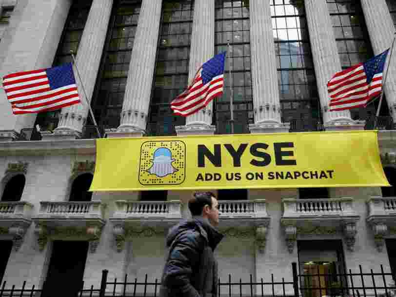 Snap vise une valorisation de 19,5 à 22,2 Mds$ pour son introduction en Bourse