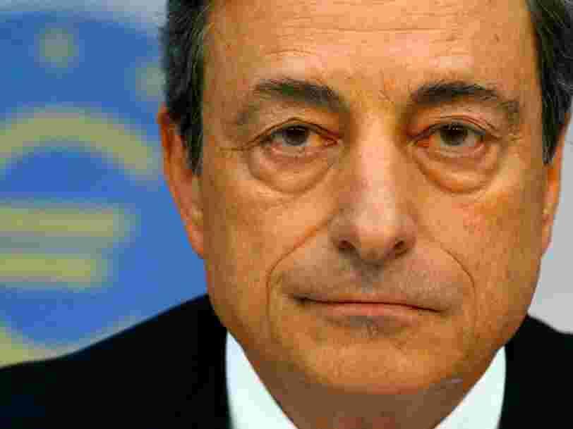 Mario Draghi: 'L'euro est irréversible'