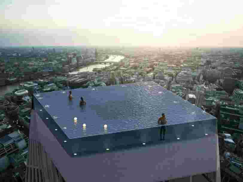La première piscine-rooftop du monde avec une vue à 360° va ouvrir à Londres