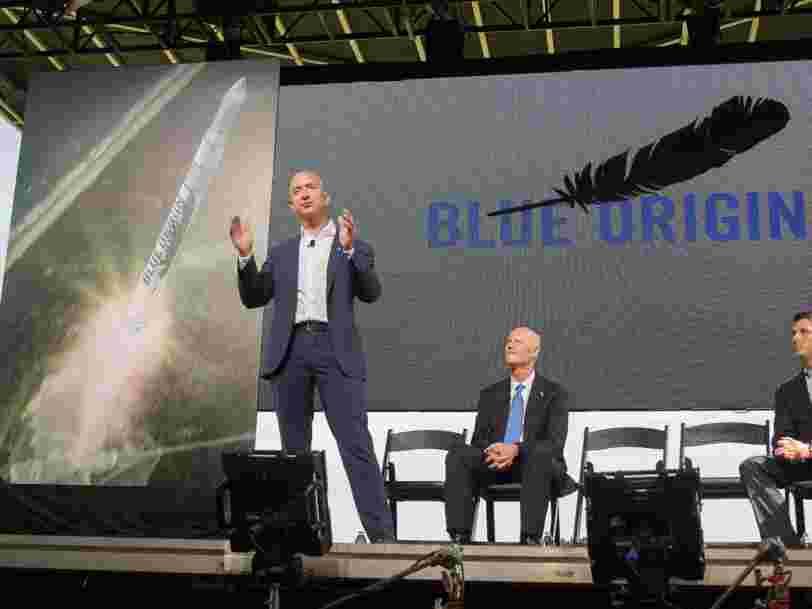 Jeff Bezos dit qu'il liquide pour 1 Md$ d'actions Amazon chaque année pour financer son entreprise spatiale Blue Origin