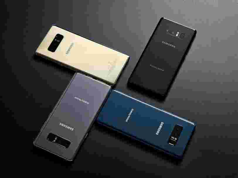 Voici un premier aperçu du nouveau Samsung Galaxy Note 8