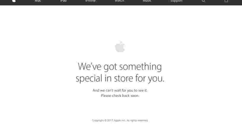 Le site de l'Apple Store est hors service, ce qui sous-entend qu'un nouveau produit va bientôt être lancé