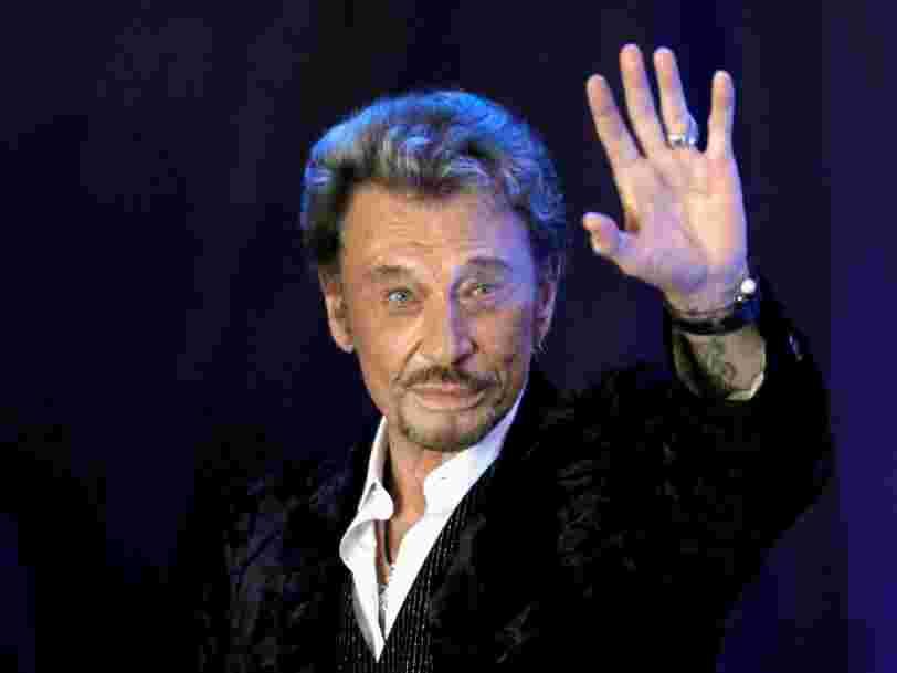 Le chanteurJohnnyHallyday est mort à l'âge de 74 ans