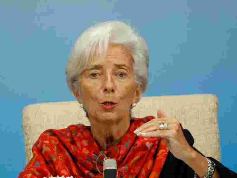 La dette des Etats et des entreprises est plus préoccupante que le secteur bancaire aujourd'hui, selon la présidente du FMI