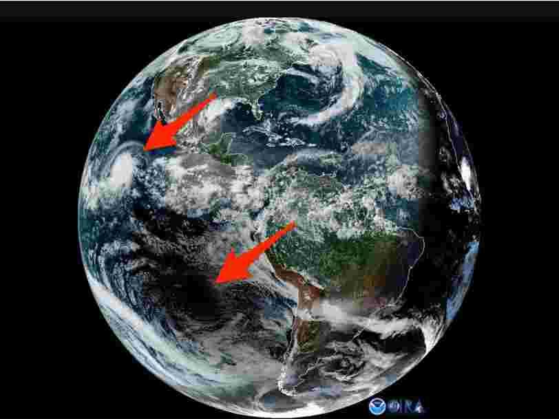 La NASA dévoile une vidéo où l'on voit l'éclipse solaire et l'ouragan Barbara en même temps