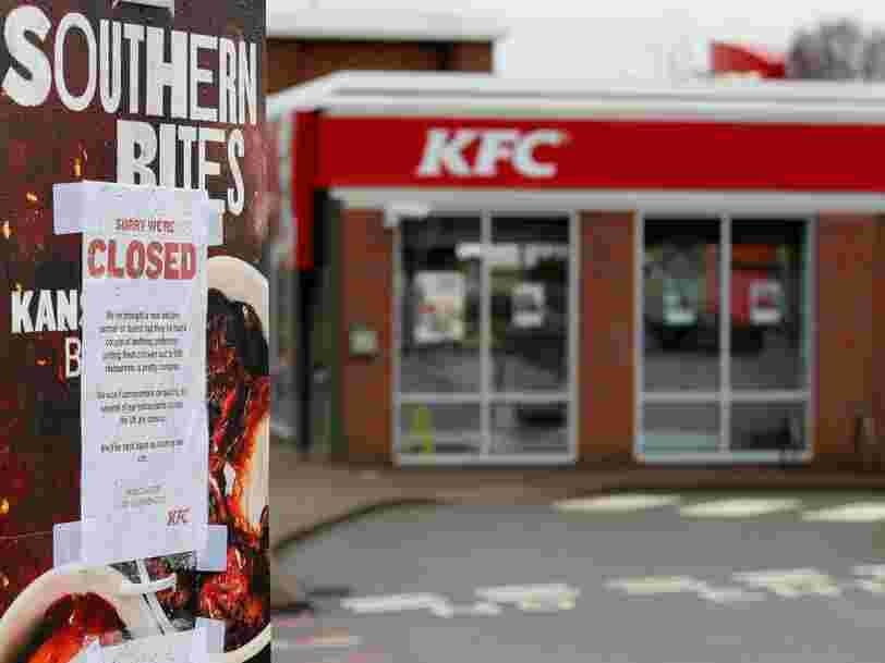 Des Anglais furieux dénoncent KFC à la police parce que ses restaurants sont à court de poulet