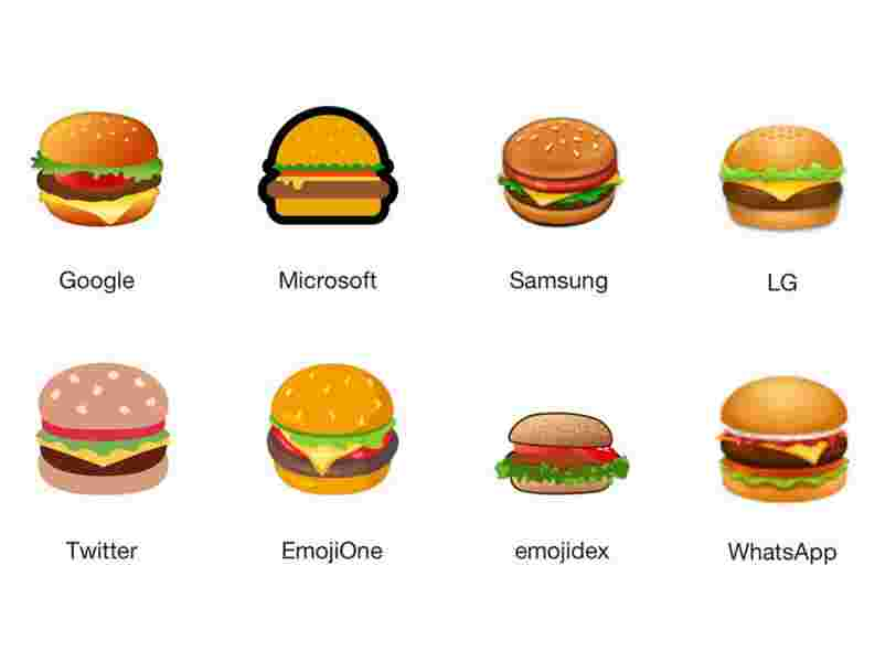 Internet débat furieusement de la place de la tranche de fromage dans l'emoji burger