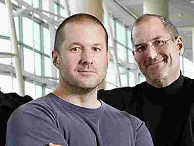Jony Ive, le designer d'Apple, s'est inspiré d'une conversation avec Steve Jobs pour le nom de son cabinet, Love From