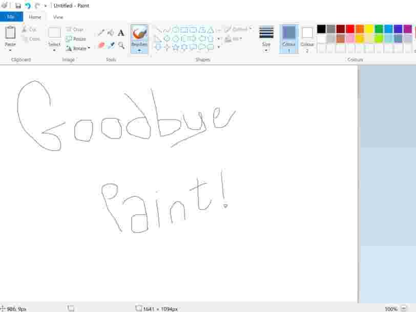 Microsoft prévoit d'éliminer son logiciel de création graphique Paint, qui existe depuis 32 ans