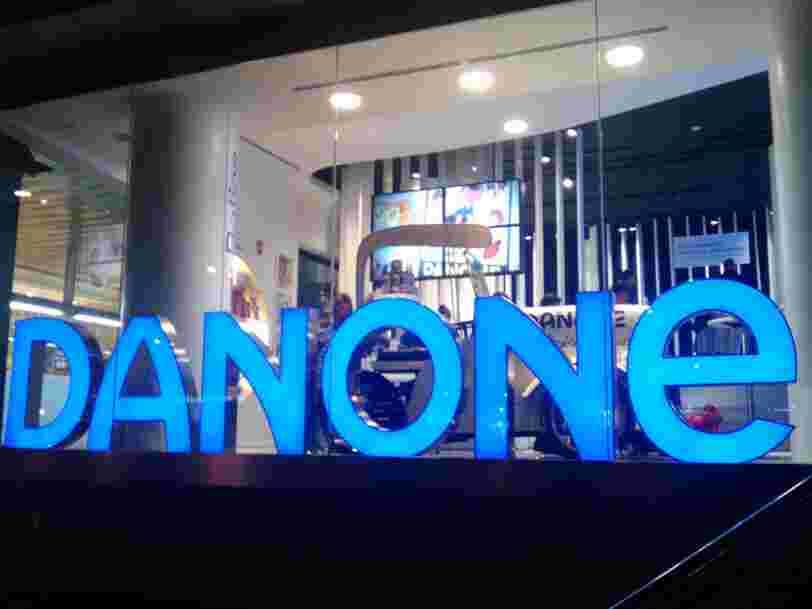 Un fonds activiste américain aurait amassé 400M$ d'actions dans le fabricant de yaourts et d'eaux Danone