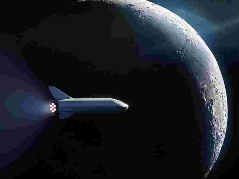 Un expert spatial dit que le vaisseau que SpaceX est en train de construire pour faire voler quelqu'un autour de la Lune est si ambitieux que ça ressemble à 'de la science-fiction'